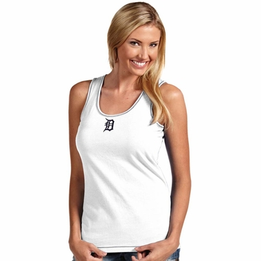 Detroit Tigers Womens Sport Fashion Tank Top (Color: White)