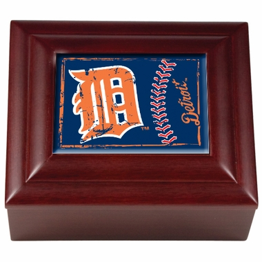 Detroit Tigers Wooden Keepsake Box