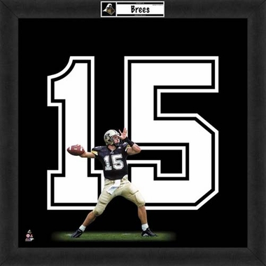 "Drew Brees, Purdue Boilermakers Uniframe 20"" x 20"""