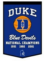 "Duke 24""x36"" Dynasty Wool Banner"