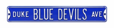 Duke Blue Devils Ave Street Sign