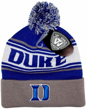 e309f9d00a1 ... promo code duke blue devils top of the world ambient cuffed knit hat  with pom d2aa8