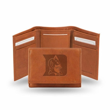 Duke Embossed Leather Trifold Wallet