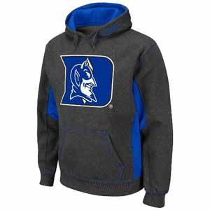 Duke Turf Red Pullover Hooded Sweatshirt (Charcoal) - Large