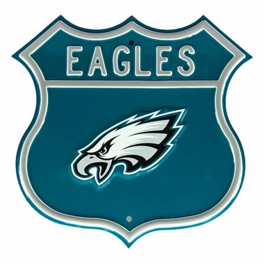 Eagles W Eagles Route Sign