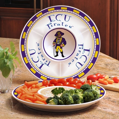 East Carolina Ceramic Chip and Dip Plate