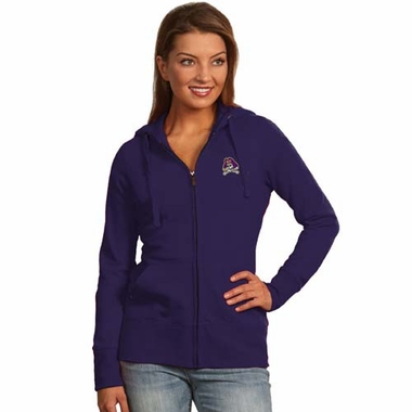 East Carolina Womens Zip Front Hoody Sweatshirt (Color: Purple)