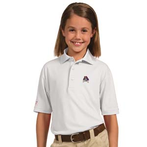 East Carolina YOUTH Unisex Pique Polo Shirt (Color: White) - Large