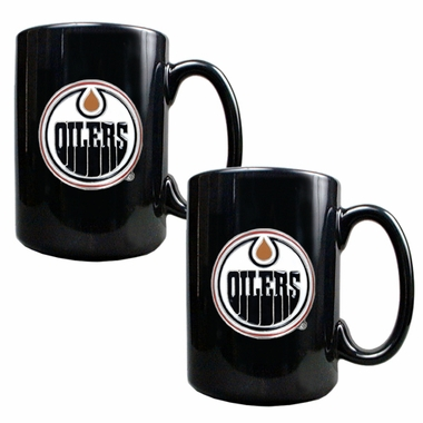 Edmonton Oilers 2 Piece Coffee Mug Set