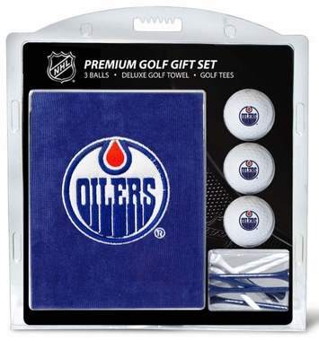Edmonton Oilers Embroidered Towel Golf Gift Set