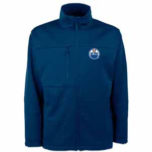 Edmonton Oilers Mens Traverse Jacket (Color: Navy) - Large