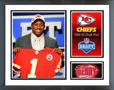 Eric Berry 2010 Draft Pick Framed Milestones & Memories