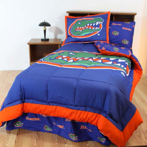 florida bed in a bag queen with team colored sheets. Black Bedroom Furniture Sets. Home Design Ideas