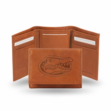 Florida Embossed Leather Trifold Wallet