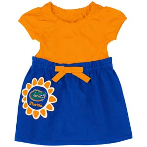 Florida Gators NCAA Infant Girls Daisy Dress 0 3 Months