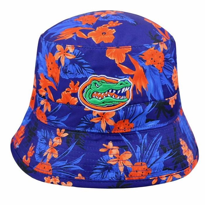 198c8999962 Florida Gators Top of the World Luau Floral Print Bucket Hat