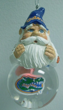 Florida Light Up Gnome Snow Globe Ornament