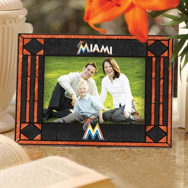 Miami Marlins Landscape Art Glass Picture Frame