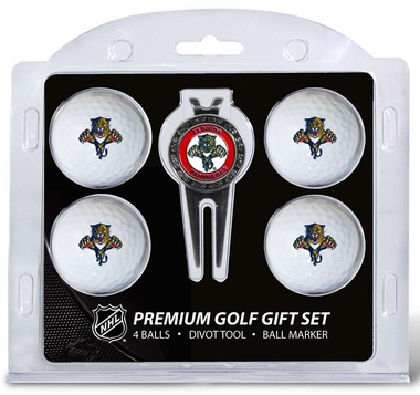 Florida Panthers 4 Ball and Divot Tool Set