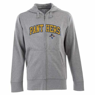Florida Panthers Mens Applique Full Zip Hooded Sweatshirt (Color: Gray)