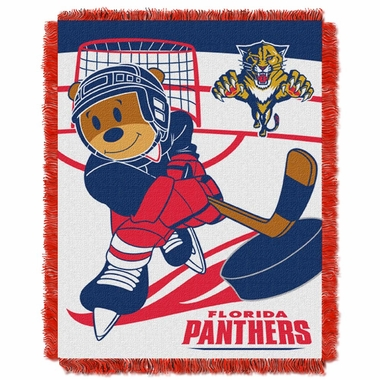 Florida Panthers Jacquard BABY Throw Blanket