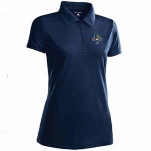 Florida Panthers Womens Pique Xtra Lite Polo Shirt (Color: Navy) - Small
