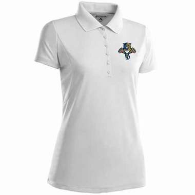 Florida Panthers Womens Pique Xtra Lite Polo Shirt (Color: White)