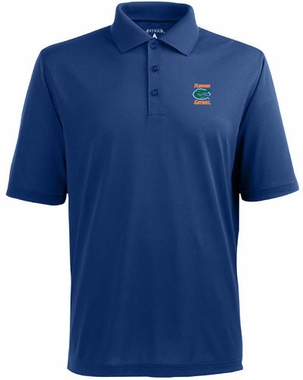 Florida Mens Pique Xtra Lite Polo Shirt (Color: Blue)