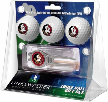 Florida State 3 Ball Gift Pack With Kool Tool
