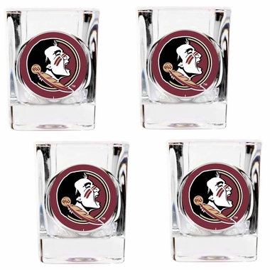 Florida State 4 Piece Shot Glass Set