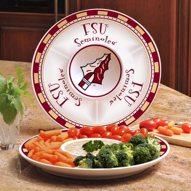 Florida State Ceramic Chip and Dip Plate