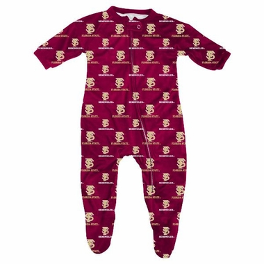 Florida State Infant Footed Zip Raglan Coverall Sleeper