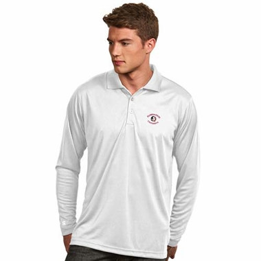 Florida State Mens Long Sleeve Polo Shirt (Color: White)