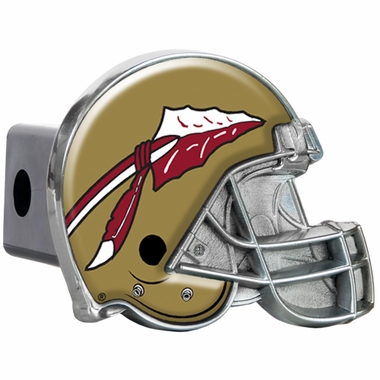 Florida State Metal Helmet Trailer Hitch Cover