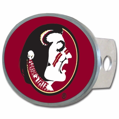 Florida State Oval Metal Hitch Cover