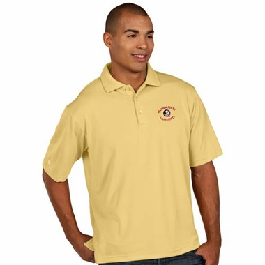 Florida State Mens Pique Xtra Lite Polo Shirt (Color: Gold)