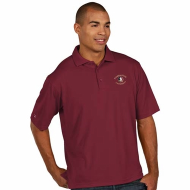 Florida State Mens Pique Xtra Lite Polo Shirt (Color: Maroon)