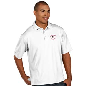 Florida State Mens Pique Xtra Lite Polo Shirt (Color: White) - Large