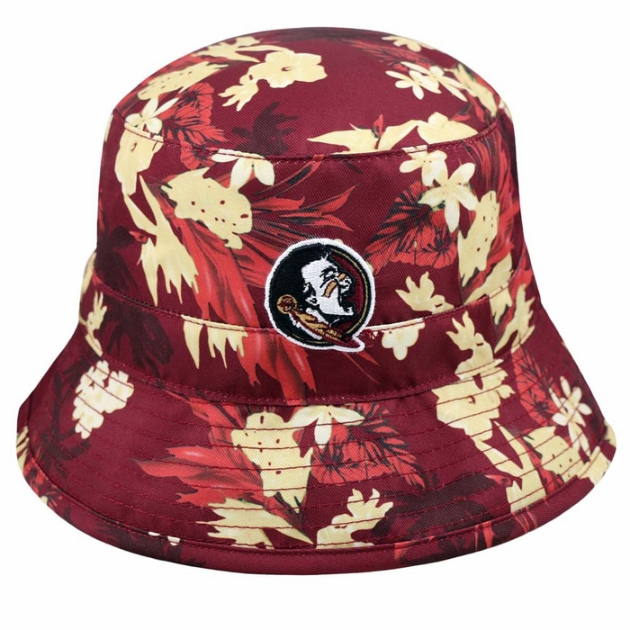 84e026a5df3 Florida State Seminoles Top of the World Luau Floral Print Bucket Hat
