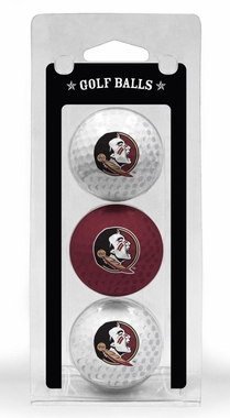 Florida State Set of 3 Multicolor Golf Balls