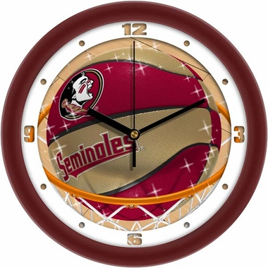 Florida State Slam Dunk Wall Clock
