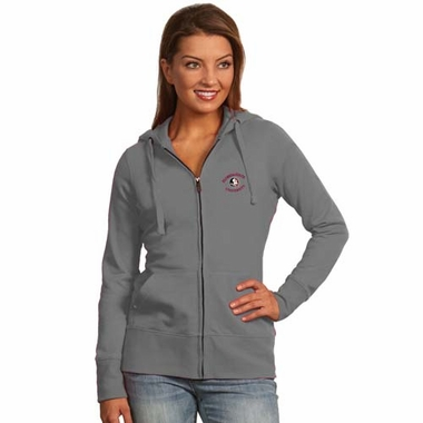 Florida State Womens Zip Front Hoody Sweatshirt (Color: Silver)