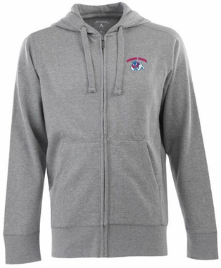 Fresno State Mens Signature Full Zip Hooded Sweatshirt (Color: Silver)