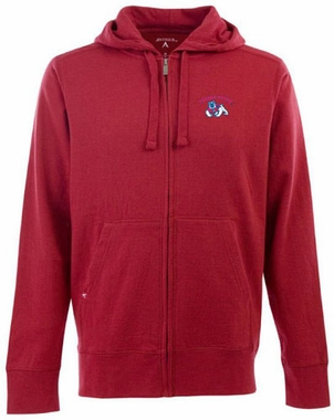 Fresno State Mens Signature Full Zip Hooded Sweatshirt (Color: Red)