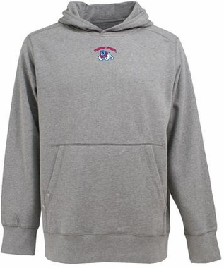 Fresno State Mens Signature Hooded Sweatshirt (Color: Silver)