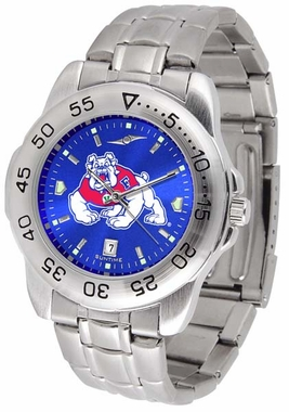Fresno State Sport Anonized Men's Steel Band Watch