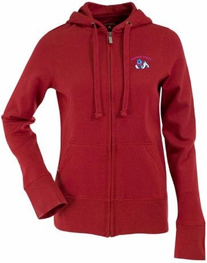 Fresno State Womens Zip Front Hoody Sweatshirt (Color: Red)
