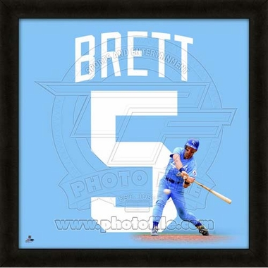"George Brett, Royals UNIFRAME 20"" x 20"""