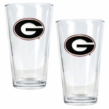 Georgia 2 Piece Pint Glass Set
