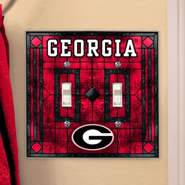 Georgia Art Glass Lightswitch Cover (Double)